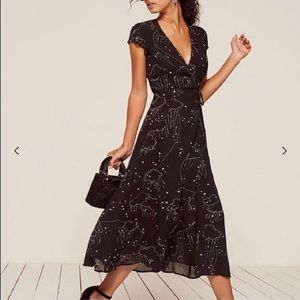 "XS Reformation Carina Dress in ""dreamscape"" print"